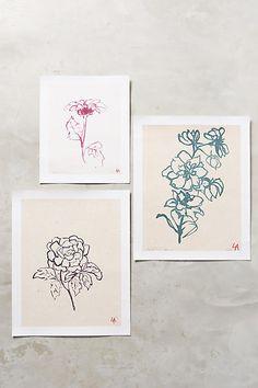 Tea Flower Print - anthropologie.com