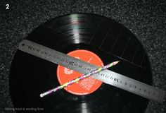 DIY instructions on how to cut and use retro vinyl record albums and make in to cool jewelry & craft projects, great gift for music lovers