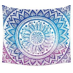 Uphome Medallion Pattern Wall Tapestry Hanging - Light-weight Polyester Fabric Wall Decor -- Awesome products selected by Anna Churchill