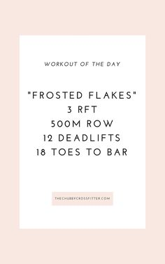 Frosted Flakes Crossfit Workout