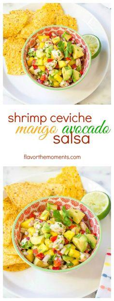 shrimp-ceviche-mango-avocado-salsa-collage | flavorthemoments.com