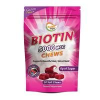 Biotin 5000mcg Chews promotes healthier hair from the roots all the way to the tips, helps guard against skin blemishes & irritations, and supports thicker & stronger nails. Make a change today!  Shop it at www.americanlifestyle.com/p/14238/Healthy-Delights-Biotin-5000-mcg-Chews