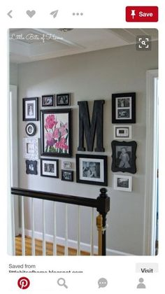 Little Bits of Home: Hallway Gallery Wall Living room ideas Photo Deco, Hallway Decorating, Decorating Ideas For The Home Living Room, Bedroom Decorating Ideas, Home And Deco, My New Room, Home Projects, Diy Home Decor, Hone Decor Ideas