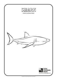 Cool Coloring Pages   Animals / Shark / Coloring Page With Shark