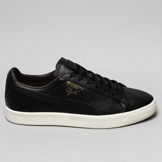 Puma Clyde Black Leather