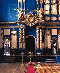 La Chapelle du Palais (27) - Palais Catherine - Tsarskoie Selo - Etat actuel - Chapelle réalisée par Bartoloméo Rastrelli.