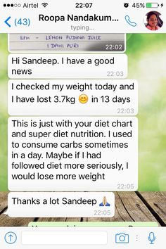 Another Bangalorian did it !!! This time it is Roopa Nandakumaran who lost approx 3.7 kg in 13 days by following the diet chart & super diet nutrition with her full dedication & laser focus to achieve her target. Hats off for the awesome people like her   To get the daily Weight Loss Tips as well as many other health awareness. Connect with us on facebook. Here is the link: https://www.facebook.com/health.wellness.coach1