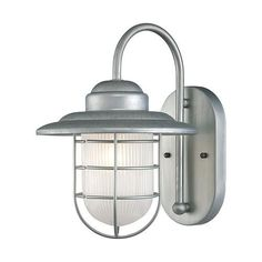 FREE SHIPPING. Purchase the nautical Galvanized Coastal Wall Sconce for your bathroom or outdoor lighting today at lightingconnection.com. Millennium Lighting 5390GA