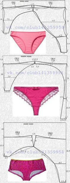 Sewing Patterns Simple Costura Ideas For 2019 Underwear Pattern, Lingerie Patterns, Sewing Lingerie, Clothing Patterns, Dress Patterns, Sewing Patterns, Sew Underwear, Knitting Patterns, Crochet Patterns