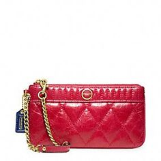 POPPY QUILTED LEATHER CHAIN WRISTLET; to match my red patent leather coach