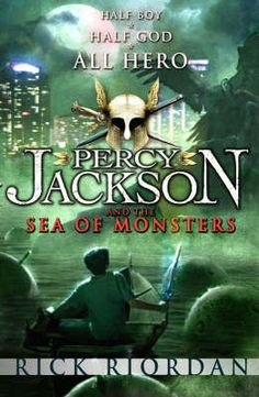 Percy Jackson book 2, by Rick Riordan.  His website can be found at www.rickriordan.com