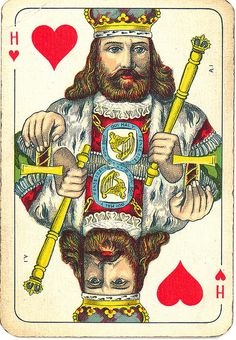 Dutch playing cards from 1920-1927: King of Hearts by Michiel2005, via Flickr