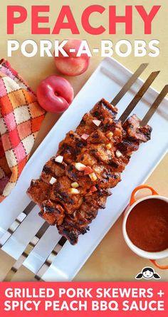 Peachy Pork-A-Bobs | 27 Delicious Paleo Recipes To Make This Summer