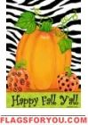 Pumpkins & Zebra Garden Flag Fall Garden Flag, Autumn Garden, Garden Flags, Happy Fall Y'all, House Flags, Pumpkins, Beautiful Homes, Decor, House Of Beauty
