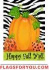 Pumpkins & Zebra Garden Flag