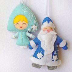 Снегурочка и Дед Мороз игрушки на елку
