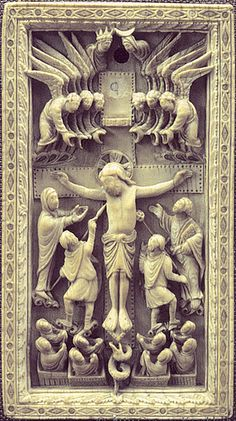 Crucifixion ivory plaque [860-70] Reims