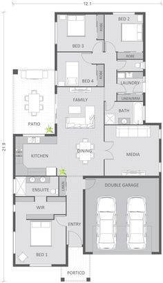 Floor plan, custom coloured and detailed to clients requirements. 20 floor plans in total of this style for a building company - DJ Jones Construction - Burdell QLD