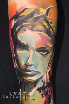 The custom tattoo portfolio and art work of international tattoo artist, Ivana Belakova. Great Tattoos, Unique Tattoos, Beautiful Tattoos, Body Art Tattoos, Portrait Tattoos, Tatoos, Beautiful Body, Woman Tattoos, Inspiring Tattoos