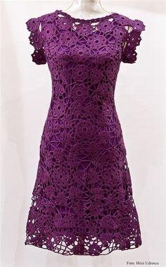Fabulous Crochet a Little Black Crochet Dress Ideas. Georgeous Crochet a Little Black Crochet Dress Ideas. Beau Crochet, Mode Crochet, Irish Crochet, Crochet Lace, Crochet Flower, Crochet Motif, Crochet Skirts, Crochet Clothes, Crochet Woman