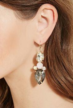 Faux Gemstone Drop Earrings | Forever 21 - 1000181076