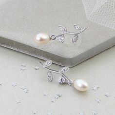 The perfect finishing touch for brides who want a bit of modern sparkle Jewellery Earrings, Pearl Earrings, Sparkle Wedding, Other Accessories, Wedding Bride, Jewelry Gifts, Brides, Barn, Glamour