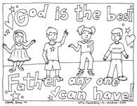 """New for 2012 ~ We've uploaded 5 new coloring pages for Father's day. Two are designed for churches who want more ethnic diversity in the illustrations and 3 are coloring page cards saying """"I love D..."""