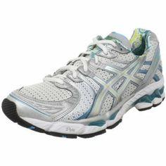 ASICS Women's GEL-Kayano 17 Running Shoe,White/Silver/Turquoise,9.5 M US | Kencleng Store