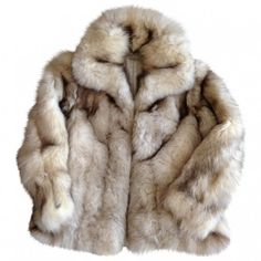 White Fur Jacket Vintage (unsigned) featuring polyvore, women's fashion, clothing, outerwear, jackets, coats & jackets, fur, vintage jackets, fur jacket, vintage fur jacket, white fur jacket and white jacket