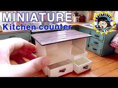 미니어쳐 아일랜드 식탁 만들기 miniature - kitchen counter - YouTube