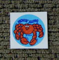 Crab scratch and sniff sticker... I think it smelled like salt water.