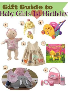 Gift Ideas for baby's first birthday <3