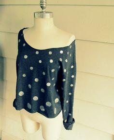 WobiSobi: Polka Dot, Cropped Shirt, DIY.