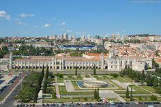Praça do Império and the Jerónimos monastery