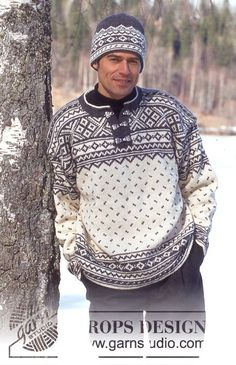DROPS – DROPS Sweater for men in Karisma Superwash – Free pattern by DROPS Design – Knitting patterns, knitting designs, knitting for beginners. Mens Knit Sweater, Nordic Sweater, Fair Isle Knitting Patterns, Sweater Knitting Patterns, Crochet Patterns, Vintage Knitting, Free Knitting, Drops Design, Norwegian Knitting
