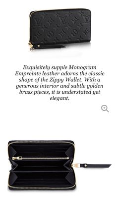 Louis Vuitton Zippy Wallet in black to match the Mazarine bag! ❤️