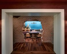 "Basement Design, Pictures, Remodel, Decor and Ideas - page 7. Creative Hole in the wall....for his ""Man Cave""."