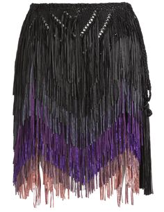 Purple Chevron Fringe Skirt | Tim Ryan | Avenue32