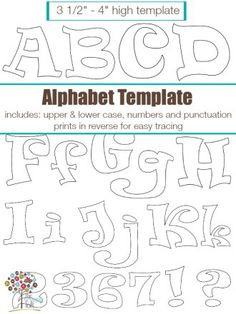 Forever friends free alphabet templates personalize any quilt with funky alphabet applique pattern template by the sewing loft craftsy spiritdancerdesigns Choice Image
