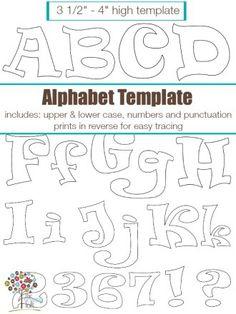 Funky Alphabet Applique   Craft Pattern   YouCanMakeThis.com