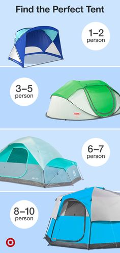 Find the perfect tent for your next camping trip. Shop tents by size & type, and don't forget the accessories.