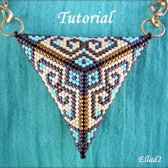 Beaded Peyote Triangles: Part II: More Ideas, Patterns, and Stunning Jewelry Inspiration Triangle Pattern, Triangles, Beading Tutorials, Beading Patterns, Free Tutorials, Jewelry Art, Beaded Jewelry, Bead Weaving, Peyote Patterns