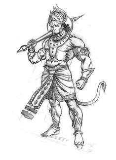 Character Design for various domain Hanuman Photos, Hanuman Images, Shiva Art, Hindu Art, Hanuman Tattoo, Hanuman Ji Wallpapers, Hindu Tattoos, Ganesha Drawing, Shri Hanuman