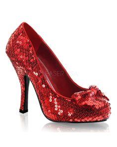 OZ-06 Red Sequins Heels | Heels & Platforms | Column 1 | Shoes