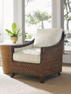 Coastal Accent Chair from Tommy Bahama Home.  #CustomUpholstery
