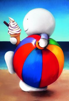 Summer Holiday - Edition on Paper by Doug Hyde Happy Summer Holidays, Summer Time, Hyde, Cute Art, Rainbow Colors, Original Artwork, Whimsical, Art Photography, Sculptures