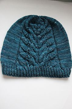 d672db06f80 Jubia s Hat by Maman Crotte. malabrigo Rios in Bobby Blue colorway. Knit  Hats