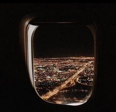 Through the airplane window Airplane Window, Airplane View, I Want To Travel, Adventure Is Out There, City Lights, City Life, Oh The Places You'll Go, Adventure Travel, Travel Photography