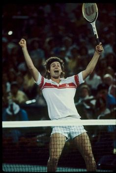 John McEnroe triumphs in 5 gruelling sets 7–6 6–1 6–7 5–7 6–4 to win the 1980 US Open over Bjorn Borg. Regarded as one of the highest quality matches of tennis ever, it came just two months after Borg had won a similarly tense 5 set struggle in that year's Wimbledon final.