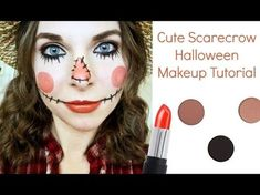 Looking for for ideas for your Halloween make-up? Browse around this site for creepy Halloween makeup looks. Halloween Costume Videos, Scarecrow Halloween Makeup, Halloween Makeup For Kids, Halloween Costumes Scarecrow, Kids Makeup, Costume Ideas, Tutu Costumes, Halloween Fotos, Happy Halloween